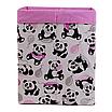 Ящик (коробка) для хранения, 30 * 30 * 40см, (хлопок), с отворотом (панды с шариками / розовый), фото 2
