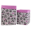 Ящик (коробка) для хранения, 30 * 30 * 40см, (хлопок), с отворотом (панды с шариками / розовый), фото 4