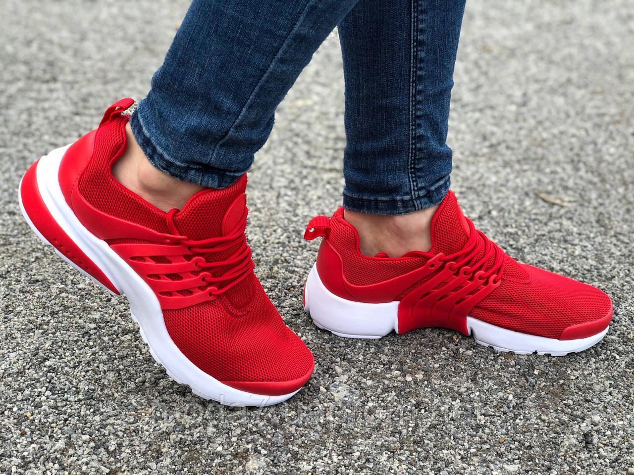 Кроссовки женские подростковые красные Nike Presto реплика