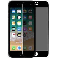 Стекло анти-шпион Iphone 7/8 Plus Privacy Glass 10D Black