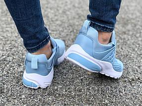 Кроссовки женские подростковые голубые Nike Presto реплика, фото 3