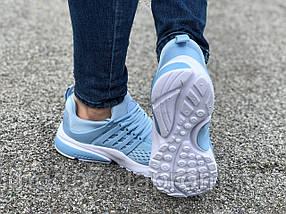 Кроссовки женские подростковые голубые Nike Presto реплика, фото 2