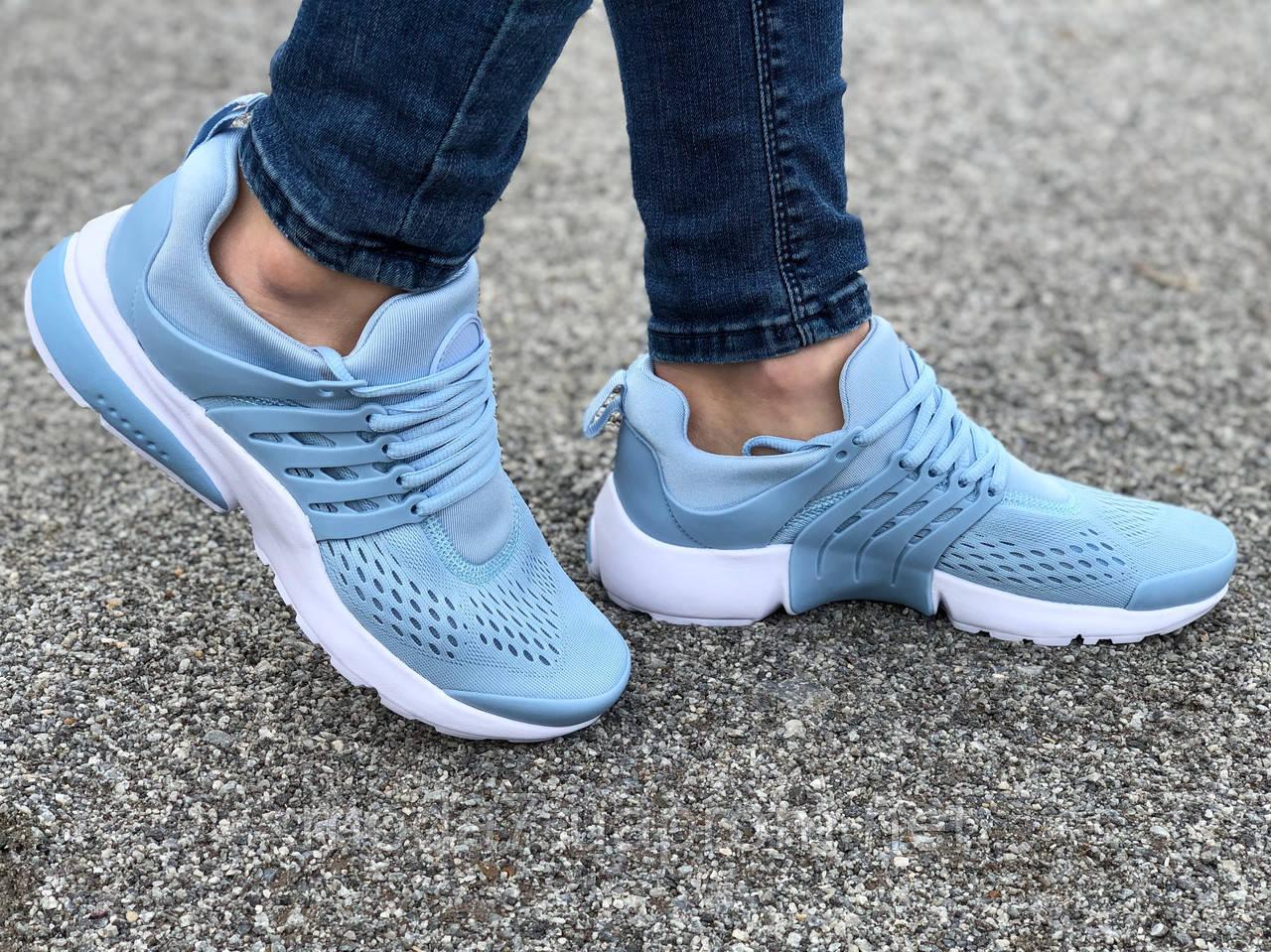 Кроссовки женские подростковые голубые Nike Presto реплика