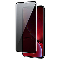 Стекло анти-шпион Iphone XR/11 Privacy Glass 10D Black