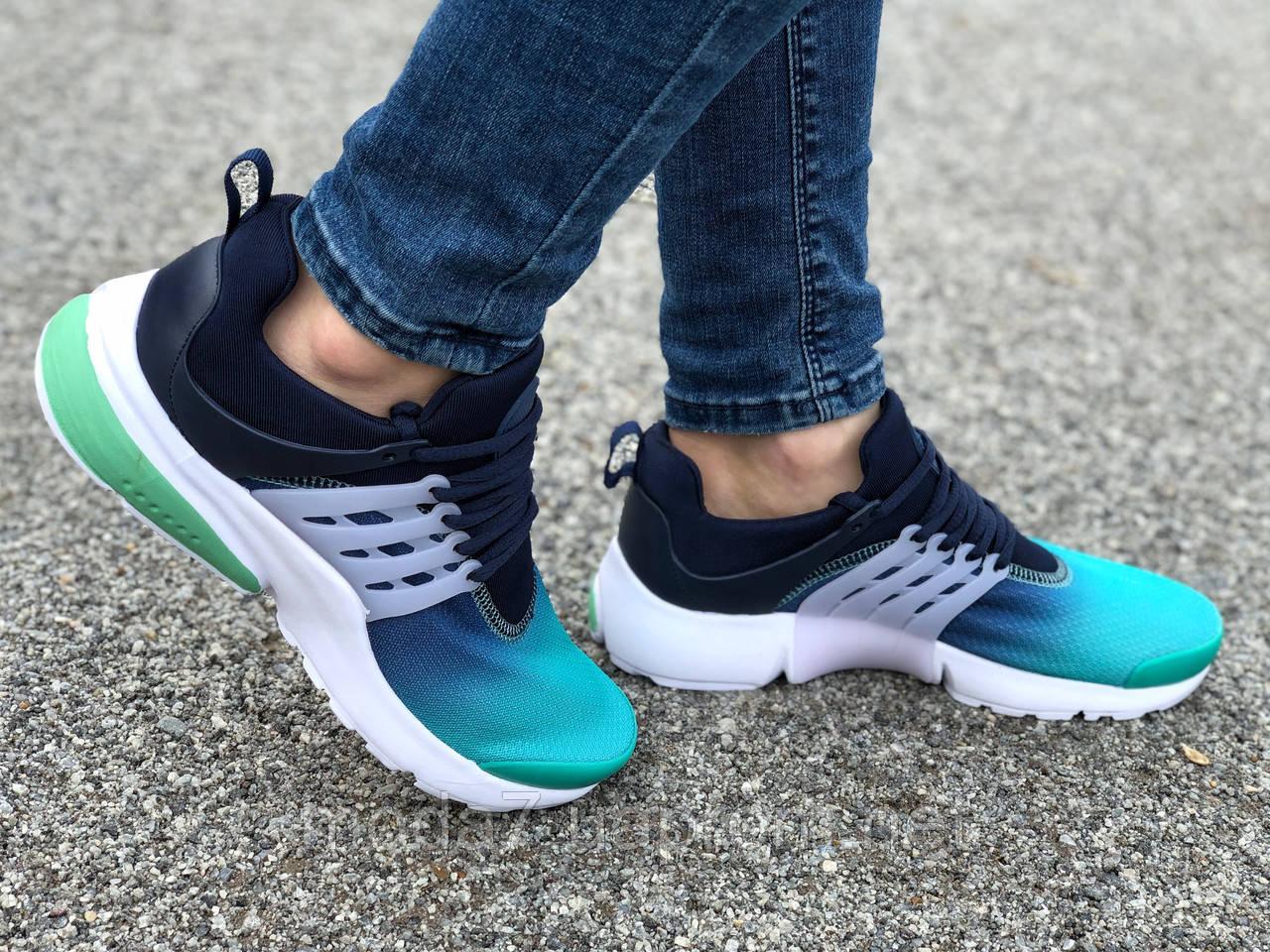 Кроссовки женские подростковые зеленые Nike Presto реплика