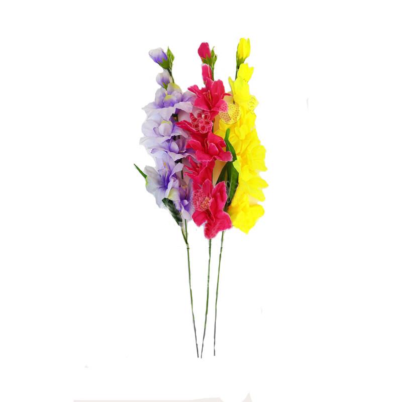 """Одиночная искусственная ветка """"Гладиолус""""  530мм микс расцветок"""