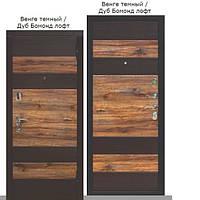 Двери входные квартирные Таримус Групп Оксфорд 95 мм Vinorit Венге темный + Дуб бомонд лофт МДФ / МДФ
