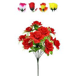 """Букет искусственный """"Роза""""на 12 голов 460 мм  цвета микс"""