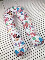U-образная подушка подкова обнимашка для беременных Esen Стильная МиккиXL 120x60 см (107 003 XL)