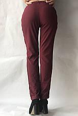 Женские летние штаны N°17 бордо горошек, фото 3
