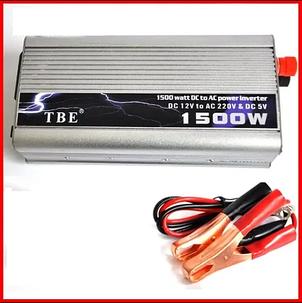 Преобразователь напряжения, инвертор автомобильный 1500W TBE, 12/220, фото 2