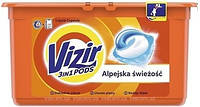 Капсулы для стирки  Vizir 3in1 PODS, Альпийская свежесть 41шт