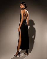Нарядное длинное платье с открытой спиной и плечами (XS, S)