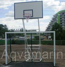 Стойка баскетбольная стационарная уличная на четырех опорах (вынос фермы 125 см)