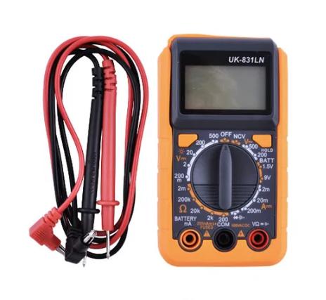 Тестер цифровой мультиметр UK-831 LN тестд диодов, транзисторов, зумер