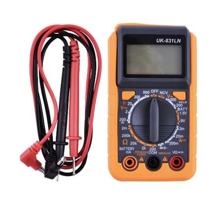 Тестер цифровой мультиметр UK-831 LN тестд диодов, транзисторов, зумер, фото 2