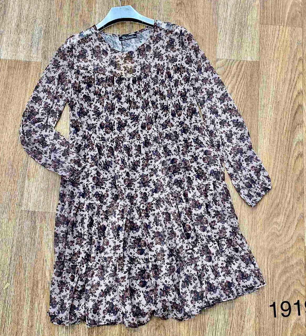 Нежное весеннее платье с рюшами 42-46 (в расцветках)