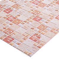Пластиковая Декоративная Панель ПВХ мозаика ОСЕННИЙ ЛИСТ(955X480) мм