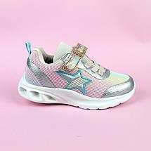 Детские кроссовки для девочки LED подсветка Звезды тм Bi&Ki размер 29,32,33, фото 3
