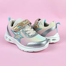 Детские кроссовки для девочки LED подсветка Звезды тм Bi&Ki размер 29,32,33
