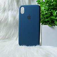 Чехол iPhone XR синий