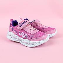 Детские кроссовки с подсветкой для девочки розовые тм Boyang размер 28,29,30, фото 2