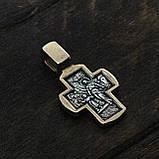 Крест серебряный Распятие Христово. Ангел Хранитель 8605-R, фото 4