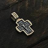 Крест серебряный Распятие Христово. Ангел Хранитель 8605-R, фото 3