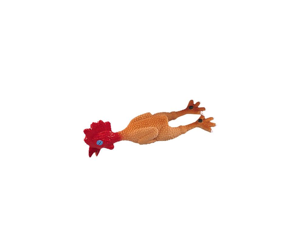 Игрушка для собак  курочка 16см латекс Нобби