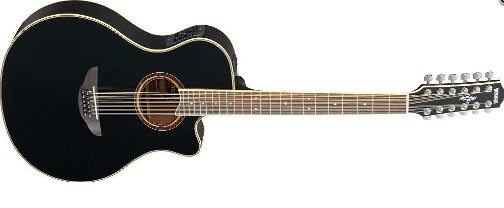 Электроакустическая гитара YAMAHA APX700 II-12 (BLK) 12-струнная версия модели APX-700II