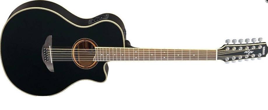 Электроакустическая гитара YAMAHA APX700 II-12 (BLK) 12-струнная версия модели APX-700II, фото 2