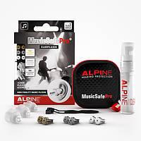 Беруши для музыкантов / диджеев Alpine MusicSafe Pro New Clear + Venitex + шнурок (3 в 1)