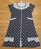 Трикотажне жіноче літнє плаття в горошок