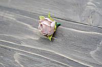 Головка бутона розы. кофейно-пудровый, фото 1
