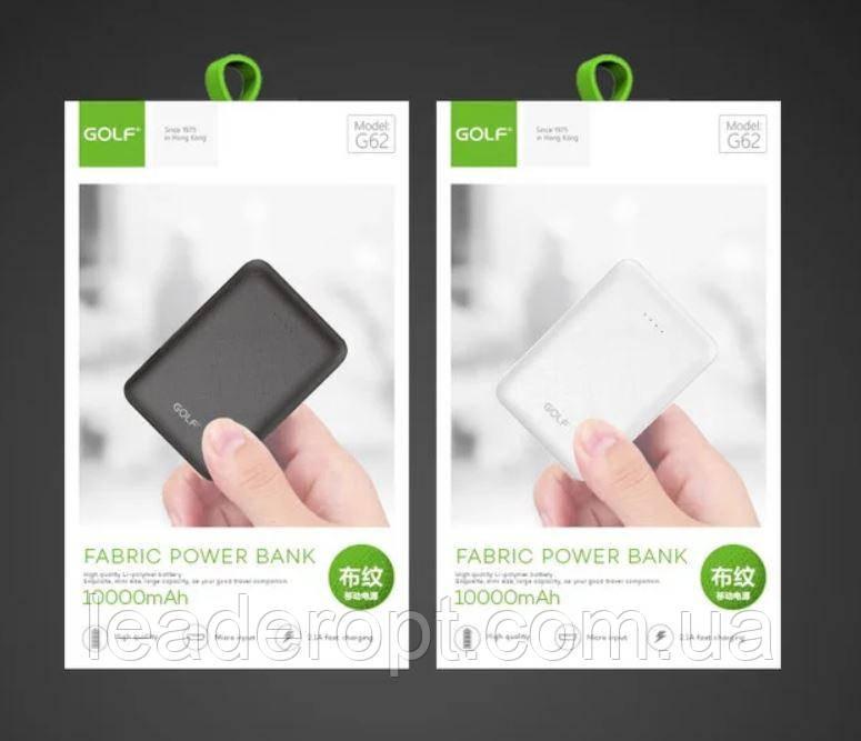 ОПТ Портативний зарядний пристрій Power bank GOLF G62 10000mAh