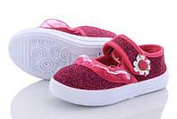 Детские пинетки  для девочки. Про-во Китай. Размеры 30-35. Цвет бордовый. купить оптом на 7 км