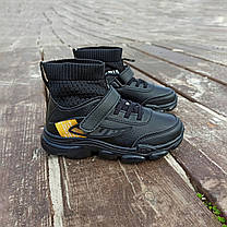 Кросівки шкіряні чорні шкарпетки дитячі кросівки nike air vapormax літні, фото 2