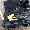 Кросівки шкіряні чорні шкарпетки дитячі кросівки nike air vapormax літні, фото 3