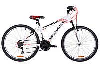 """Велосипед 26"""" Discovery RIDER AM 14G Vbr St 2019 (бело-красный с серым)"""