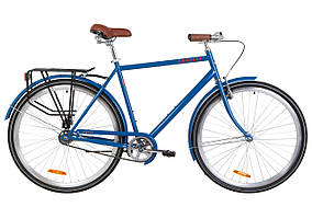 "Велосипед 28"" Dorozhnik COMFORT MALE 14G St с багажником зад St, с крылом St 2019 (синий)"