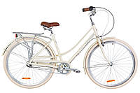 "Велосипед 28"" Dorozhnik SAPPHIRE 14G планет. Al с багажником зад AI, с крылом St 2019 (бежевый)"