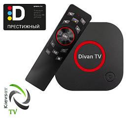 DIVАN TV BOX «Престижный»+ 241 тв-каналов, 74 в HD, архив 14 дней, 50 000 фильмов | подписка 6 месяцев