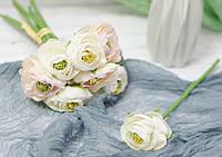 Цветок ранункулуса. нежно-крем, фото 1