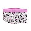 Ящик (коробка) для хранения, 25 * 35 * 20см, (хлопок), с отворотом (панды с шариками / розовый), фото 2