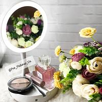 Зеркало косметическое с LED-подсветкой и увеличителем (белое)