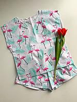 Піжама, одяг для дому та сну Brave Flamingo| Пижама Натуральная, одежда для дома и сна S M L XL
