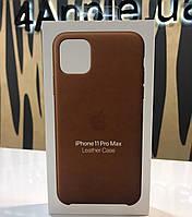 Чехол Apple Leather Case для iPhone 11 Pro Max - Saddle Brown (MWOD2ZM/A), фото 1