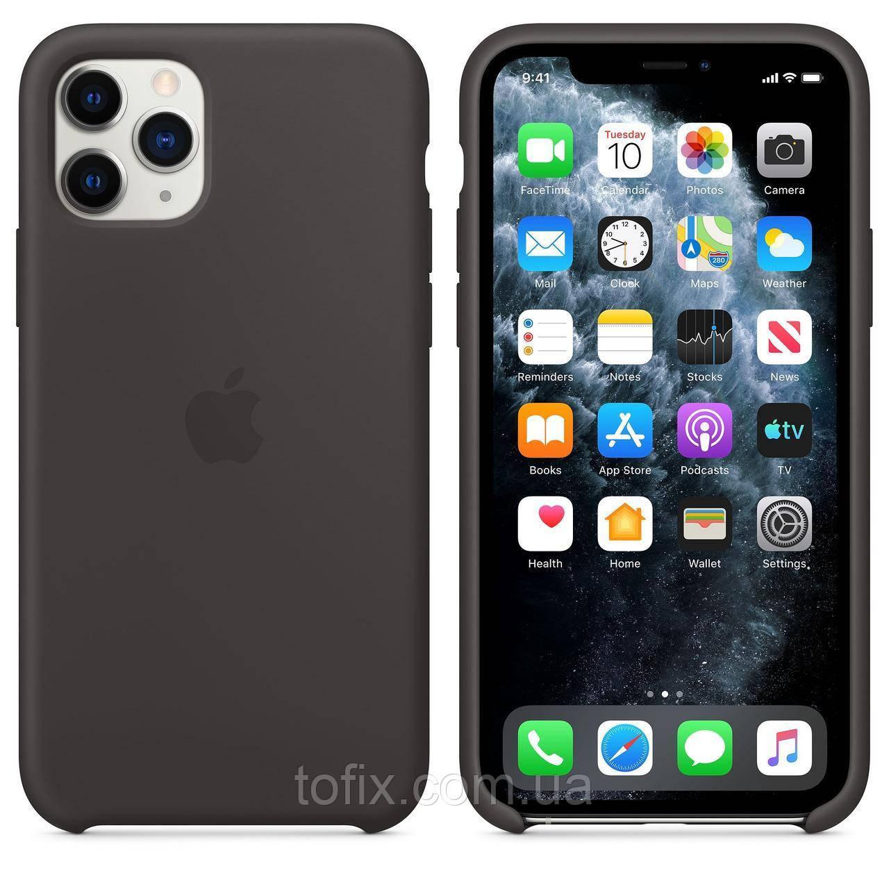 Чехол Apple Silicone Case для iPhone 11 Pro Max - Black (MX002ZM/A)