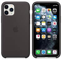 Чехол Apple Silicone Case для iPhone 11 Pro Max - Black (MX002ZM/A), фото 1