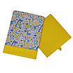 Скринька ( коробка ) для зберігання, 25*25*30 см, (бавовна), з відворотом (жирафчики/горох на жовтому), фото 2